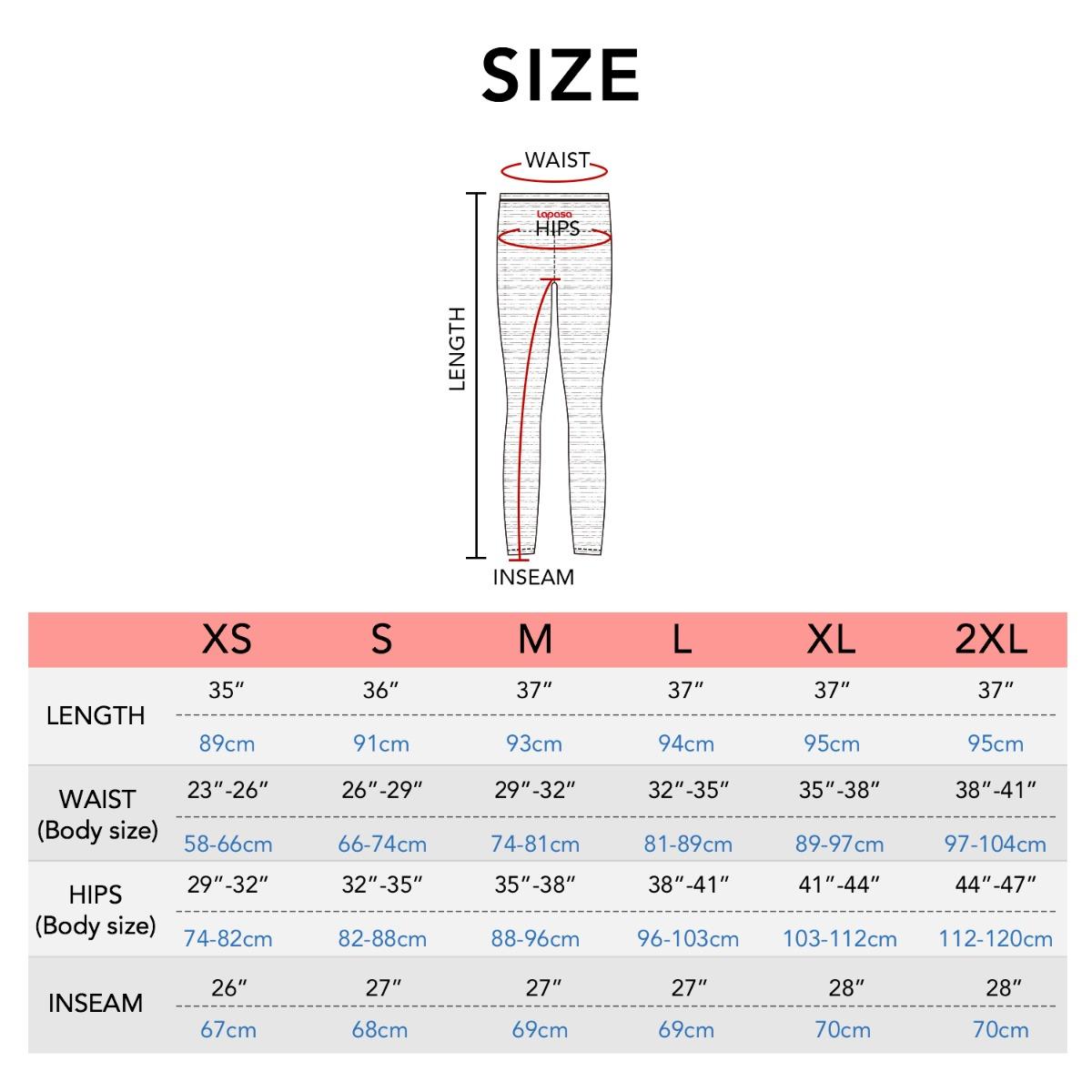 L01 size chart
