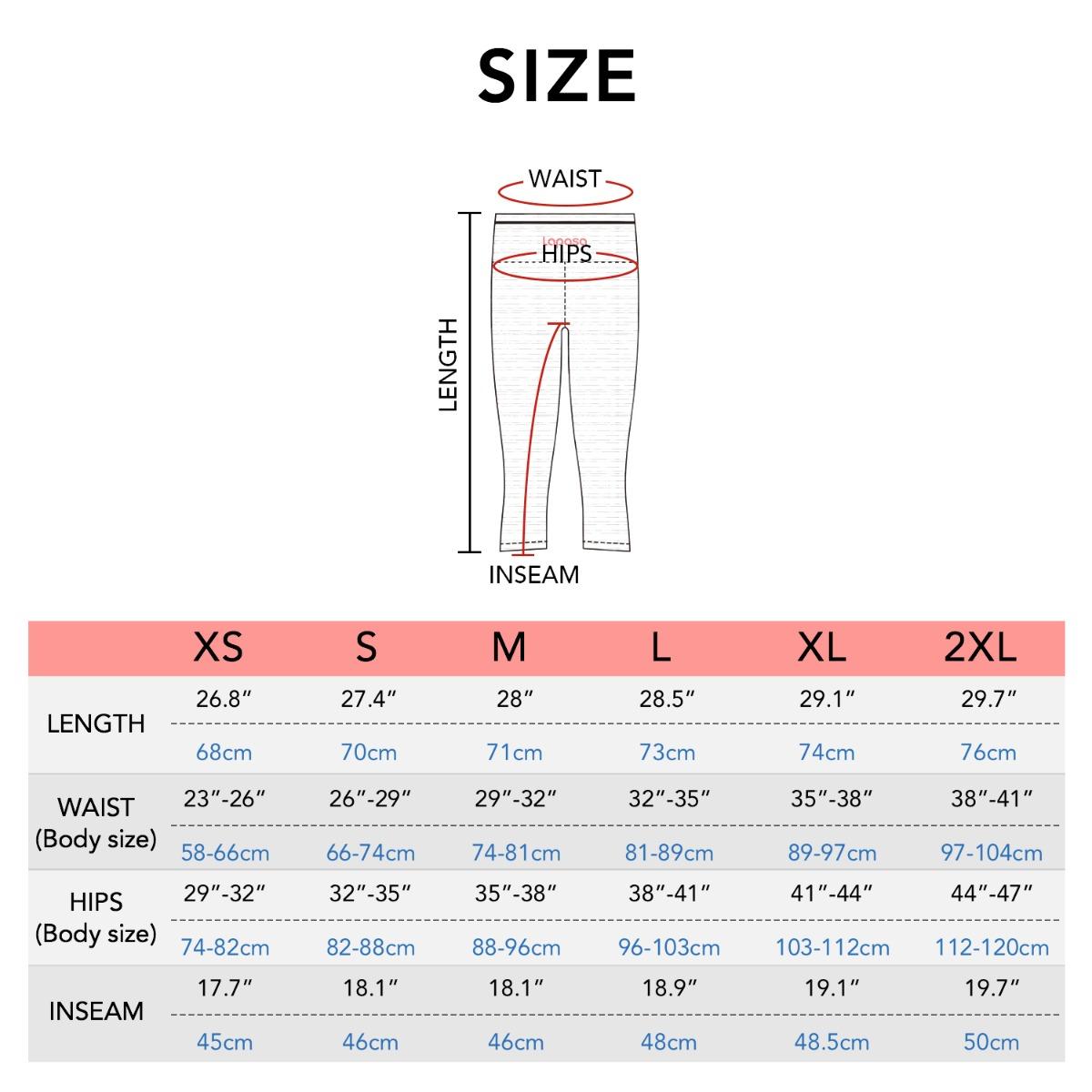 L02 size chart