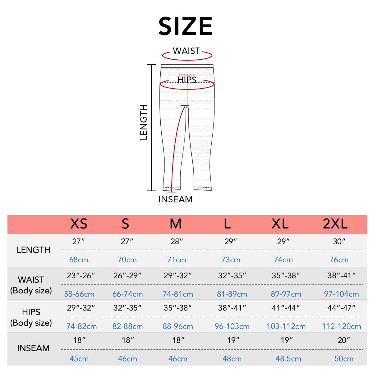 L33 size chart