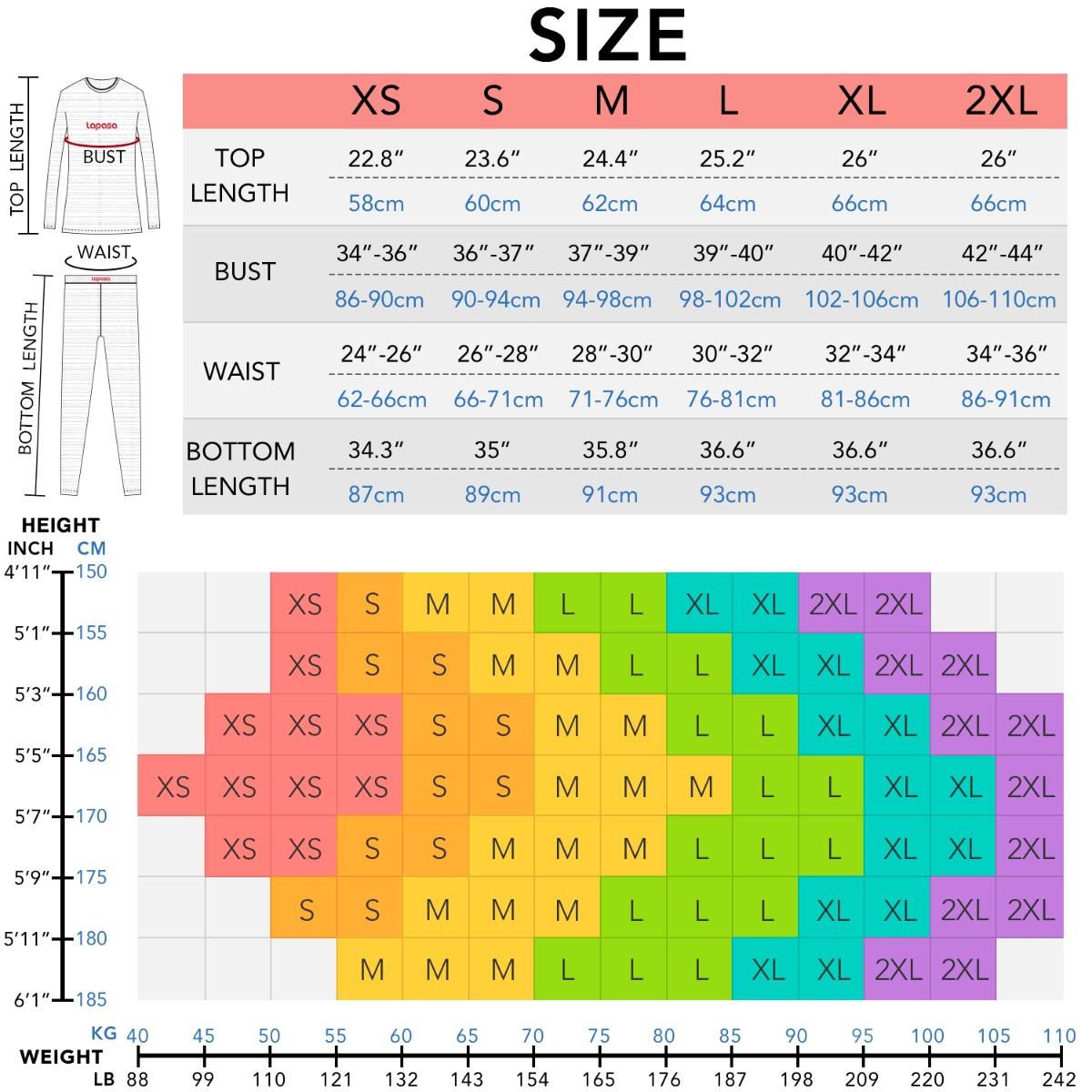 L58 size chart
