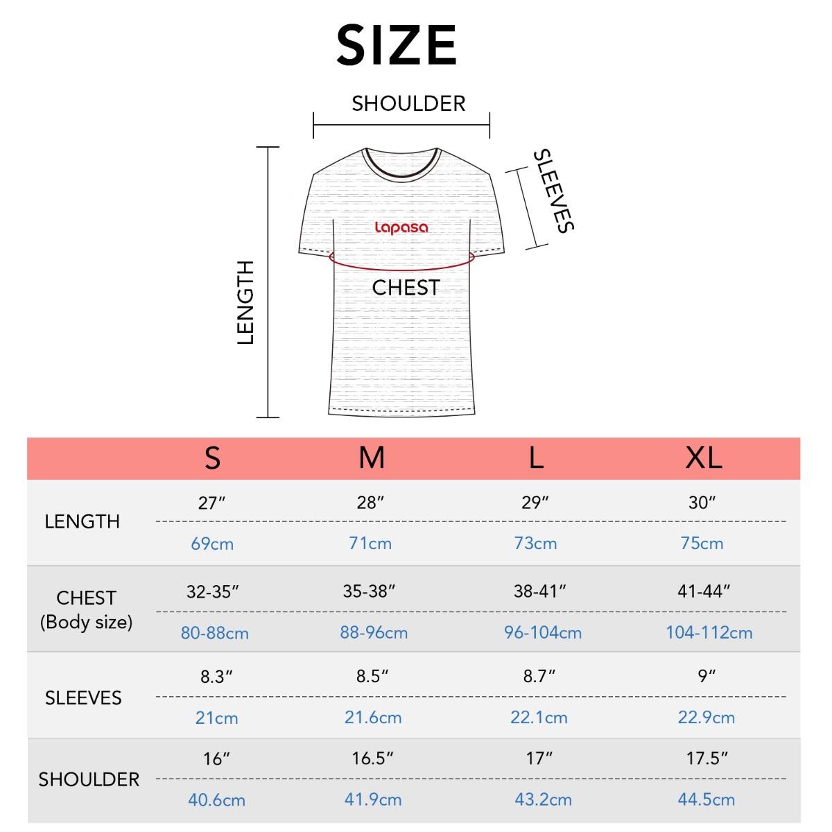 M07 size chart