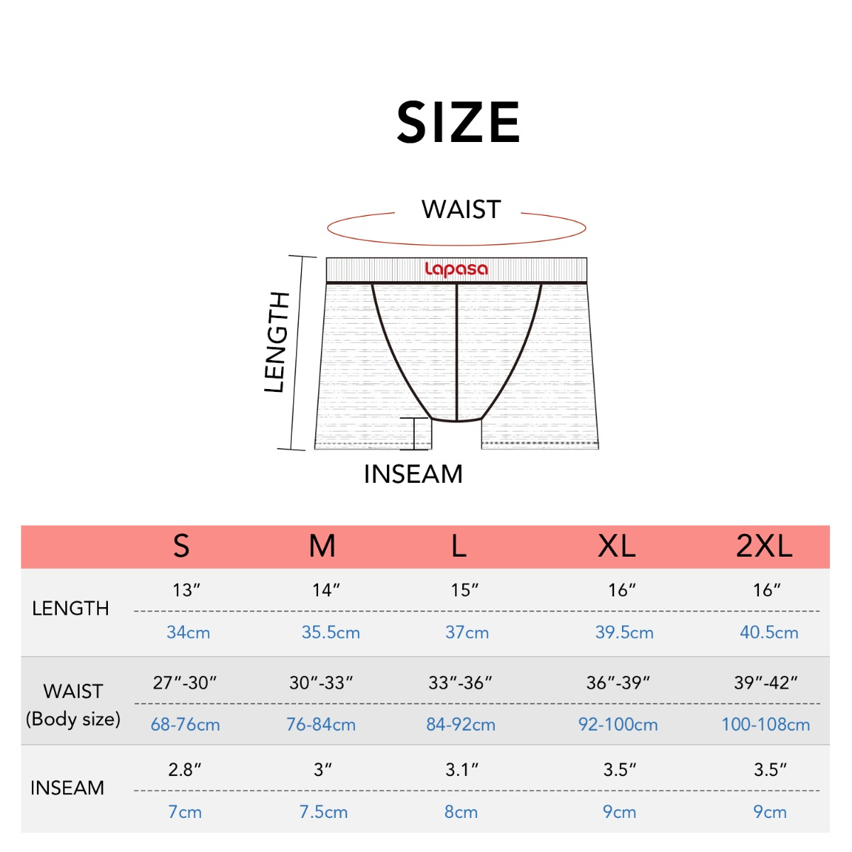 M16 size chart