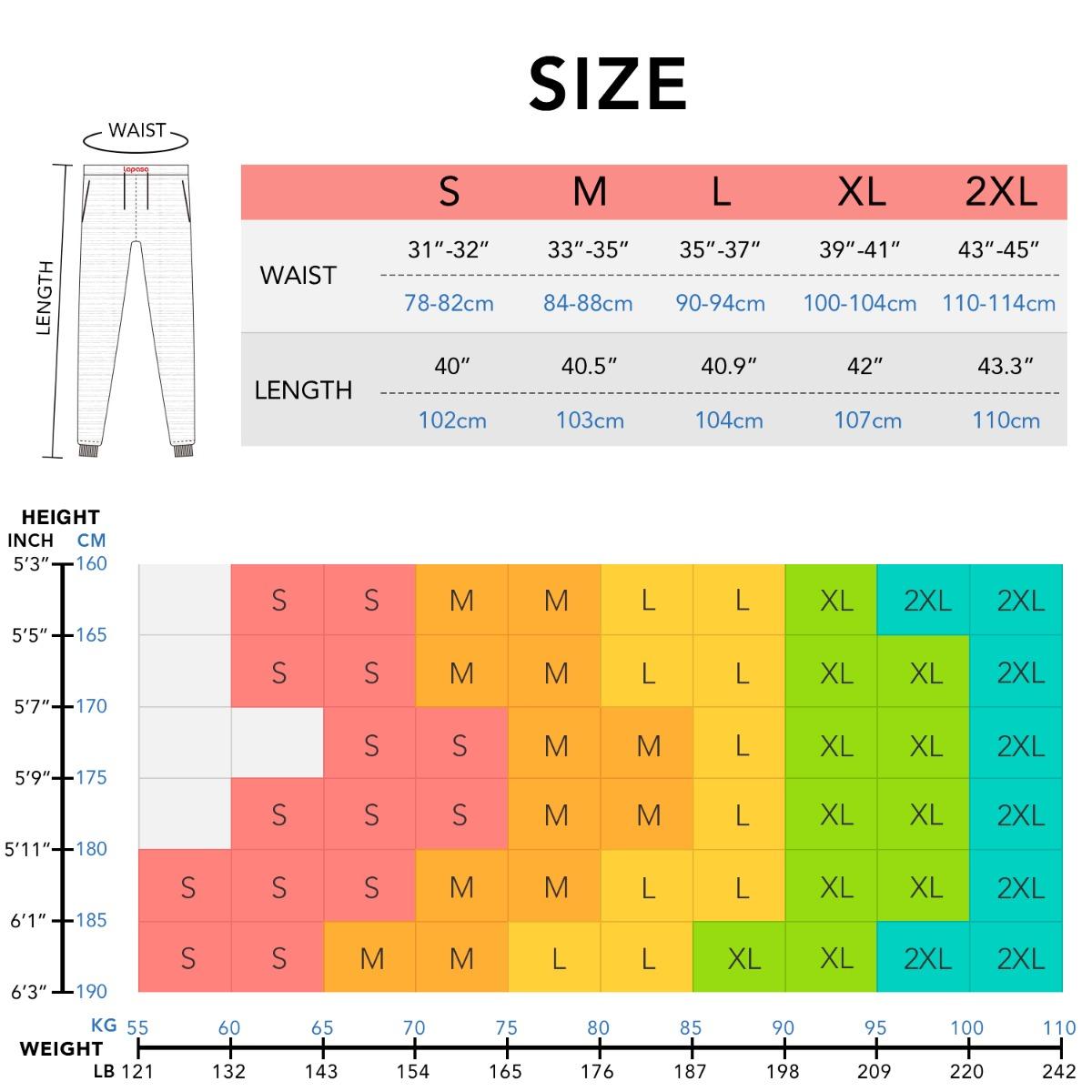 M22 size chart