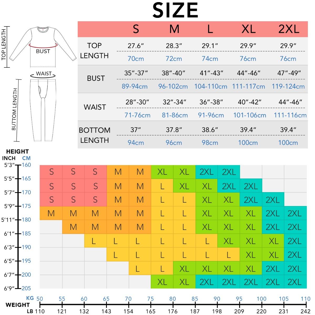 M66 size chart